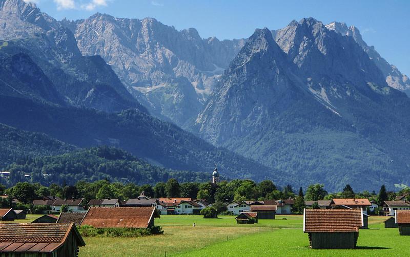 Approaching Garmisch, Germany