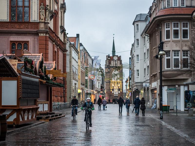 Boxing Day Street Scene, Rostock, Germany