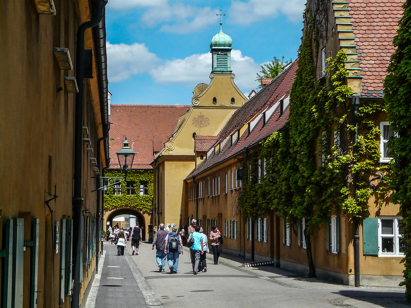 Entrance to the Fuggerei, Augsburg, Germany