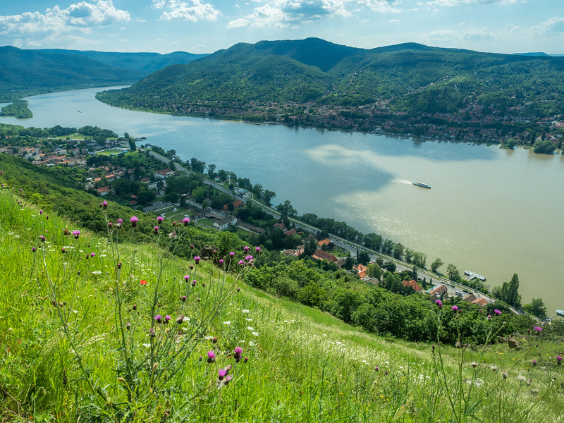 The Danube Valley from Visegrád, Hungary