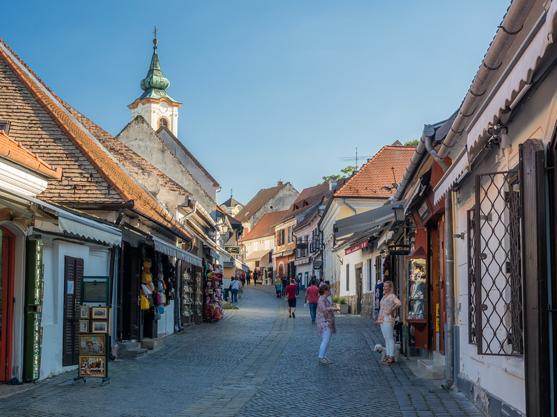 Late Afternoon Street Scene, Szentendre, Hungary