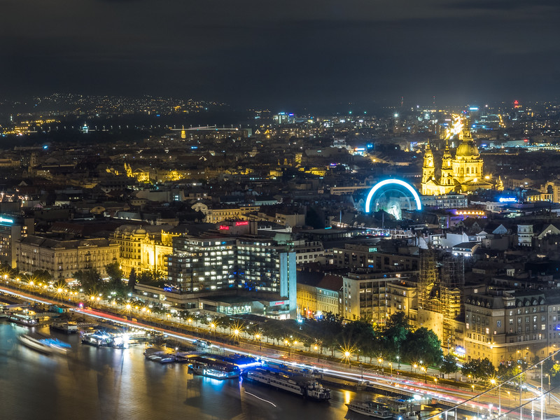 Nightfall on Pest, Budapest, Hungary