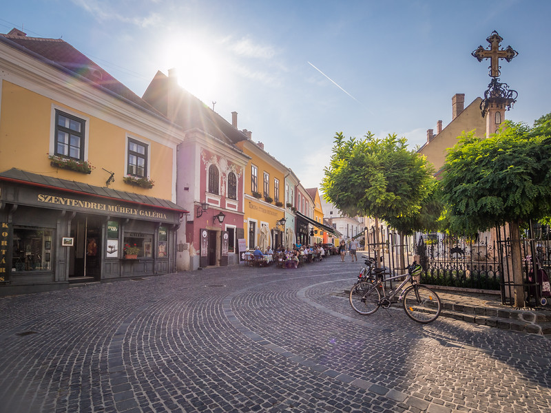 Sunlight on the Square, Szentendre, Hungary