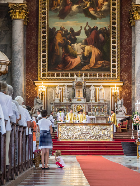 Mass in the Basilica, Esztergom, Hungary