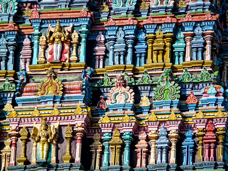Hindu Temple Façade, Madurai, India
