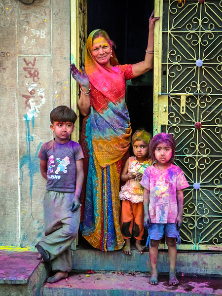 Happy Holi from Woman and Kids, Jodhpur, India
