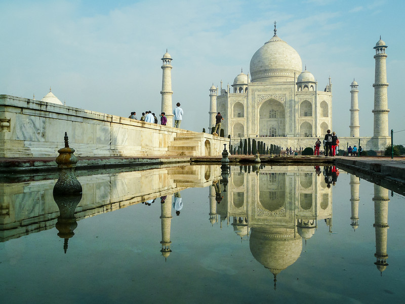 Reflections of the Taj Mahal, Agra, India