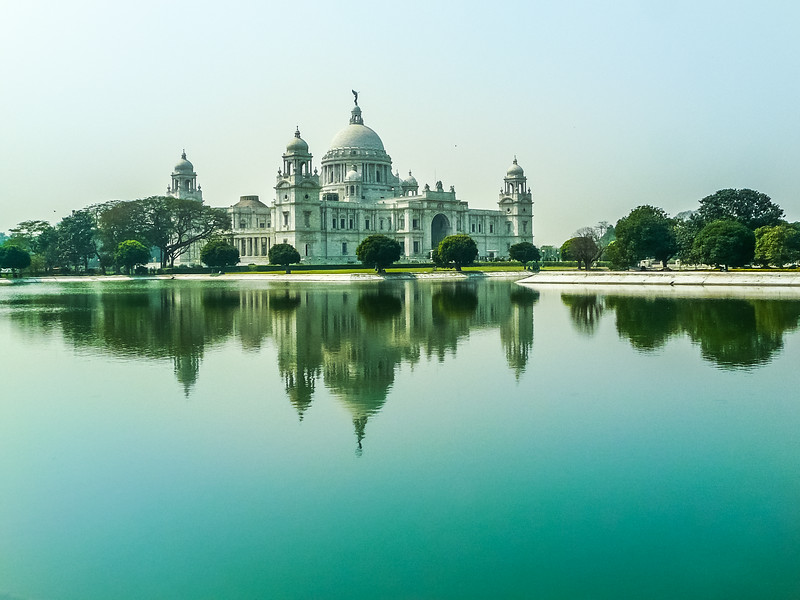 The Victoria Memorial in the Morning, Kolkata