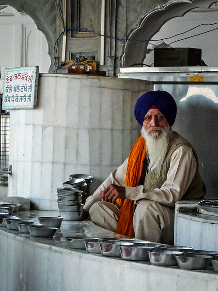 Sikh Serving Water, Golden Temple, Amritsar, India