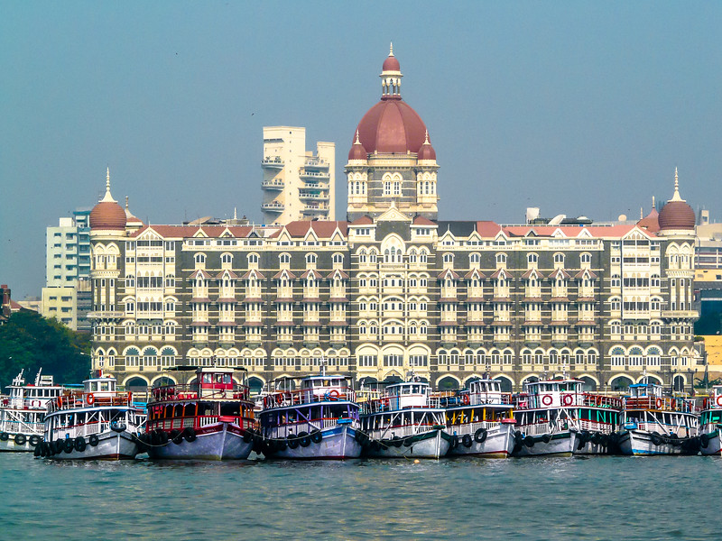 The Taj Hotel and Boats, Mumbai, India