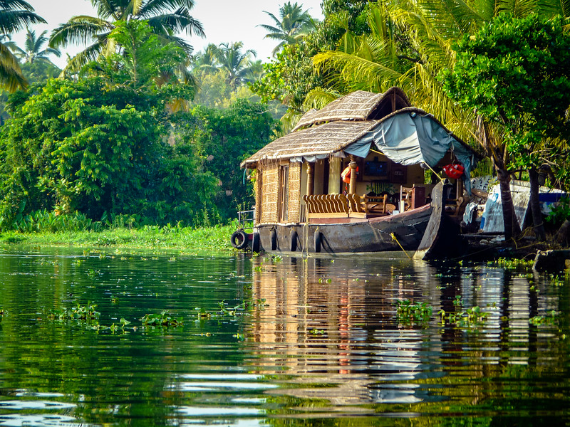 Idylle on the Kerala Backwaters, India