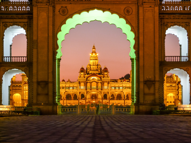 Gateway to the Palace, Mysore, India