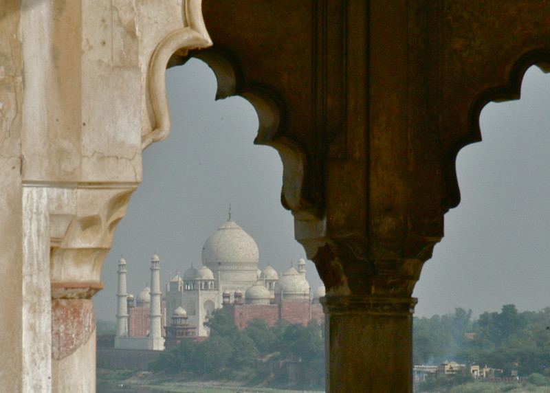 Taj from Red Fort, Agra, India
