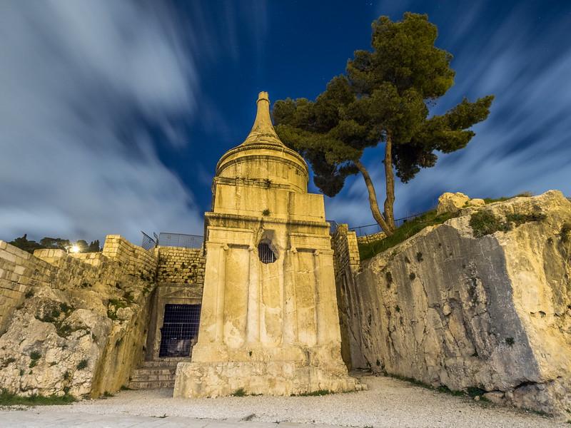 Absalom's Tomb at Night, Jerusalem