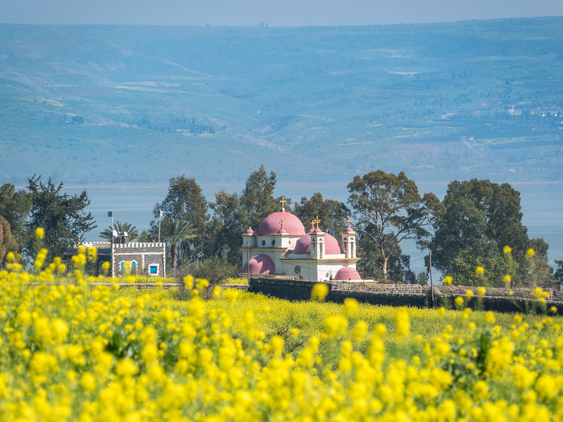 Greek Orthodox Church on the Shores of Galilee, Israel