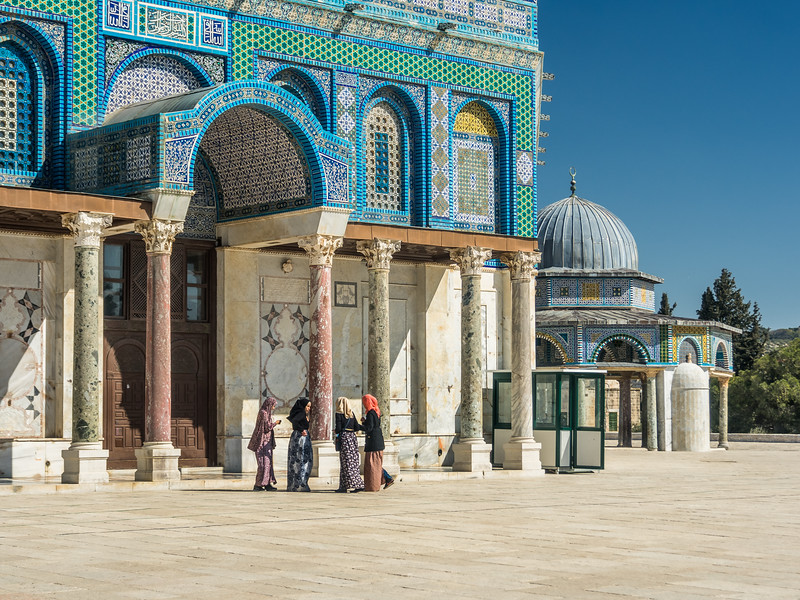 Young Women at the Dome of the Rock, Jerusalem