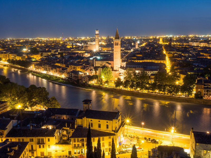 Verona Night Lights, Italy