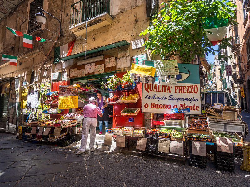 Vegetable Shop, Naples, Italy