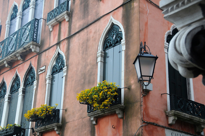 Venetian Window Boxes, Venice, Italy