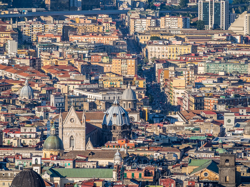 The Duomo and the City, Naples, Italy
