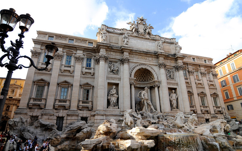 Trevi Fountain Full View, Rome, Italy