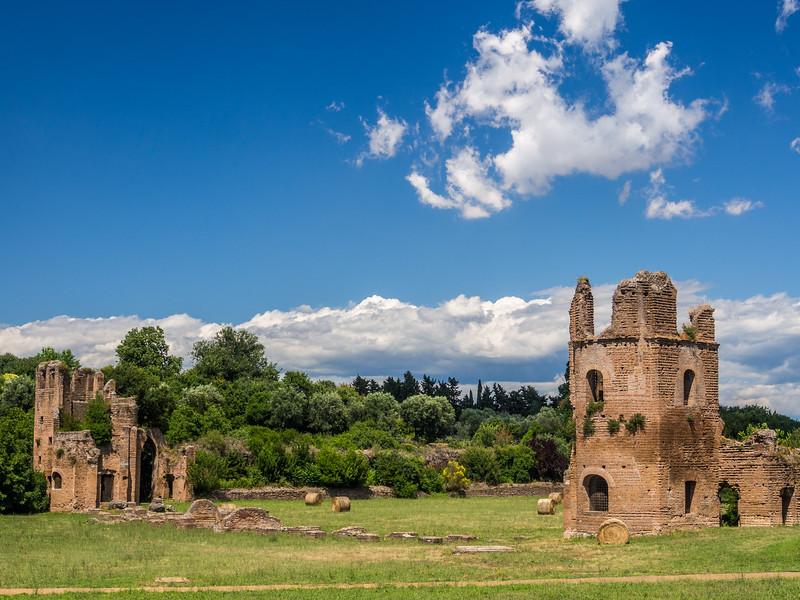 Ruins along the Appia Antica, Rome, Italy