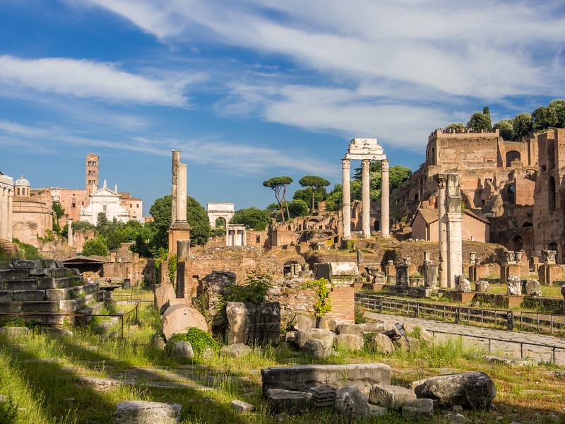Late Afternoon at the Roman Forum, Italy