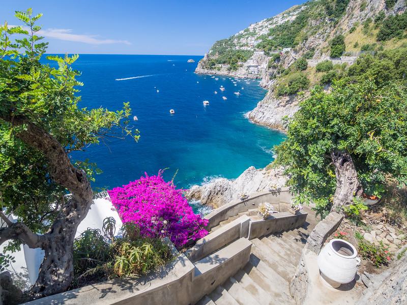 Stairs to the Villa, Amalfi Coast, Italy