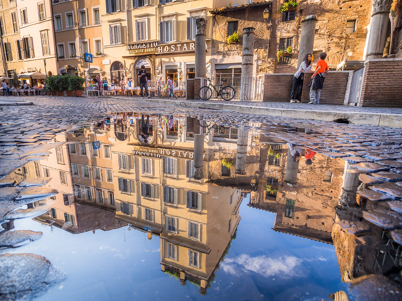 Reflections in the Jewish Ghetto, Rome, Italy