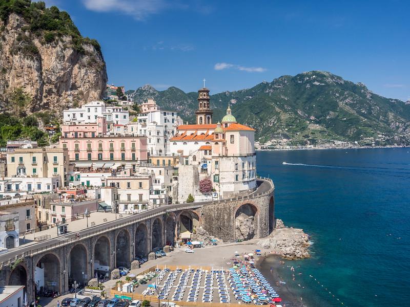 View of Atrani from Above, Amalfi Coast, Italy