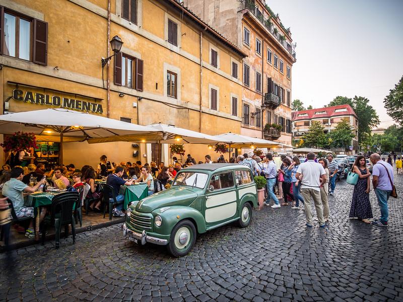 Outside the Restaurant, Trastevere, Rome, Italy