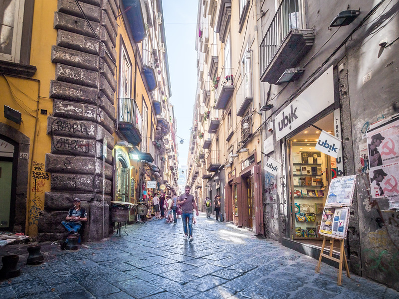 Walking Down the Spaccanapoli, Naples, Italy
