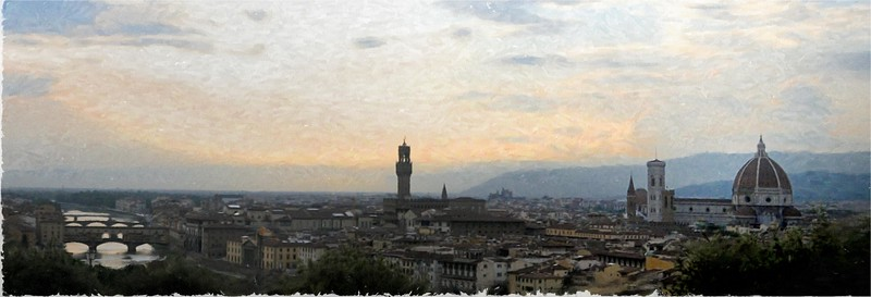 The View at Dusk in Florence