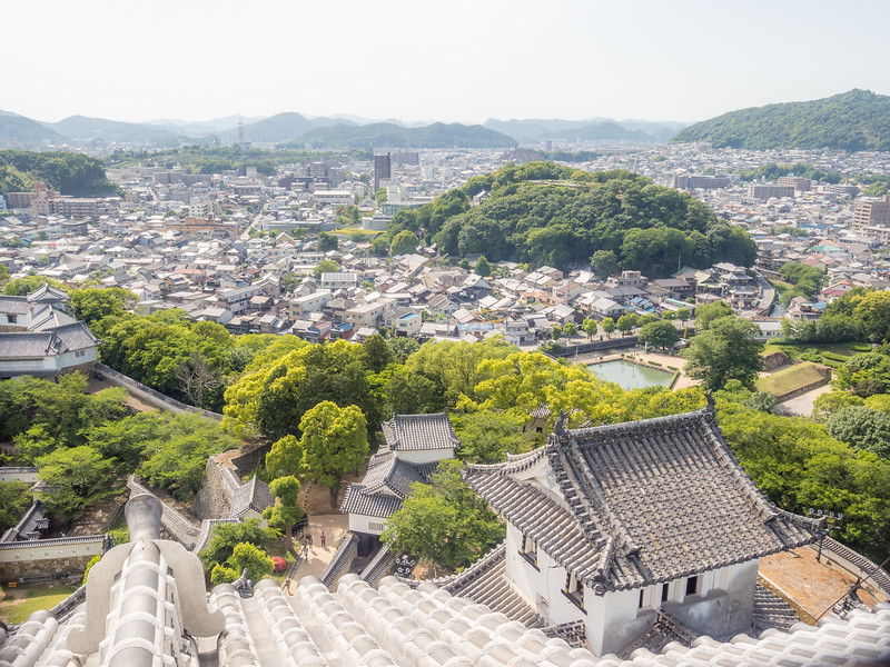 Rooftop View of Himeji from the Castle, Japan