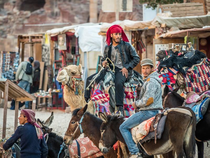 Bedouin Men at the End of the Day, Petra, Jordan