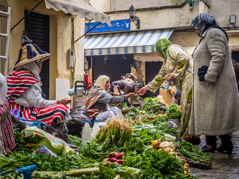 Transactions, Tangiers, Morocco