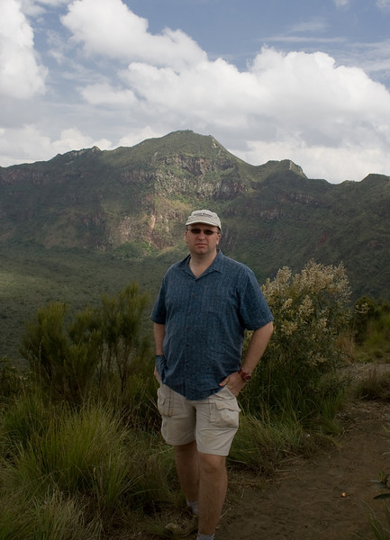This is me at the craters edge, having just caught my breathe.