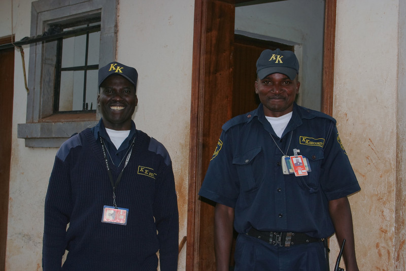 Steven and Paul, our two day time KK security guards at our house in Runda.<br /> <br /> They did a great job.