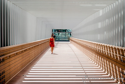 passageway #5 - lady in red