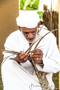 palm-frond weaving