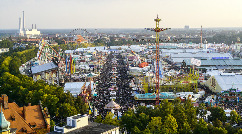 Oktoberfest from Above, Munich