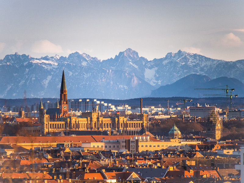 East Munich and the Alps, Germany