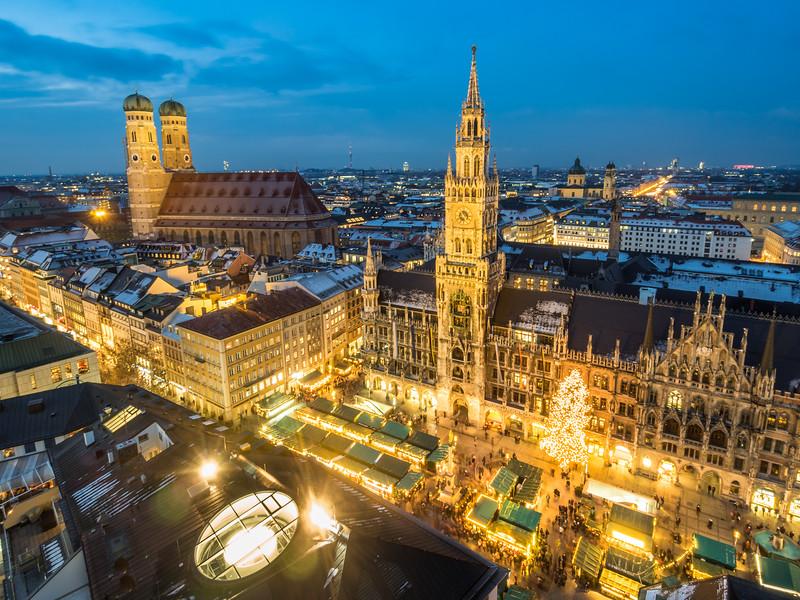 Christkindlmarkt am Marienplatz, Munich, Germany