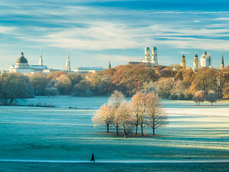 Winter Morning in the Englischer Garten, Munich, Germany