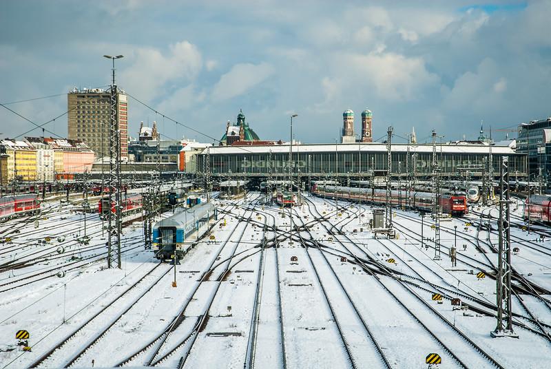 Winterlicher Bahnhof, Munich