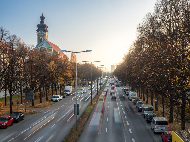Landshuter-Allee in Autumn, Munich, Germany