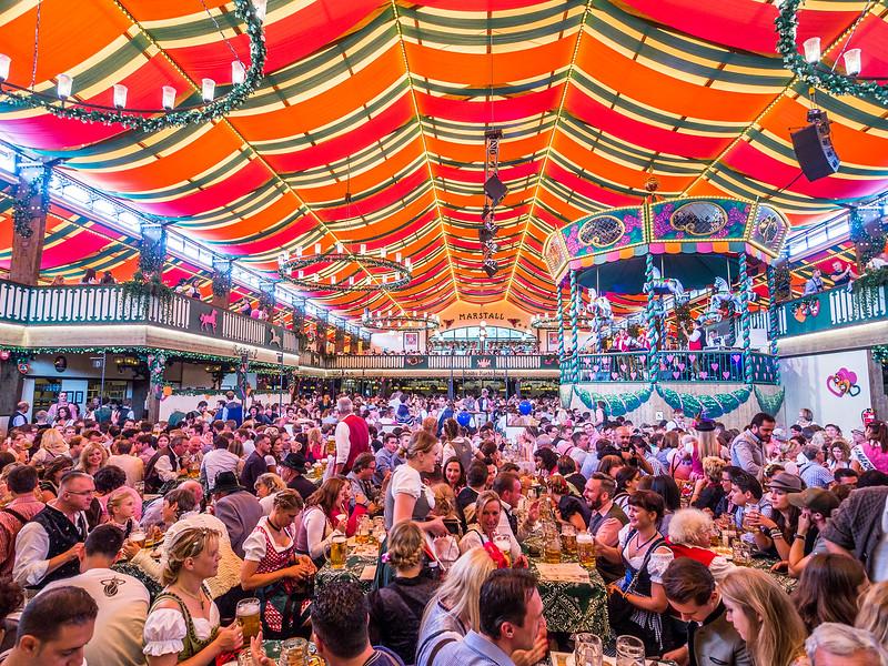 Inside the Marstall Tent, Oktoberfest, Munich, Germany