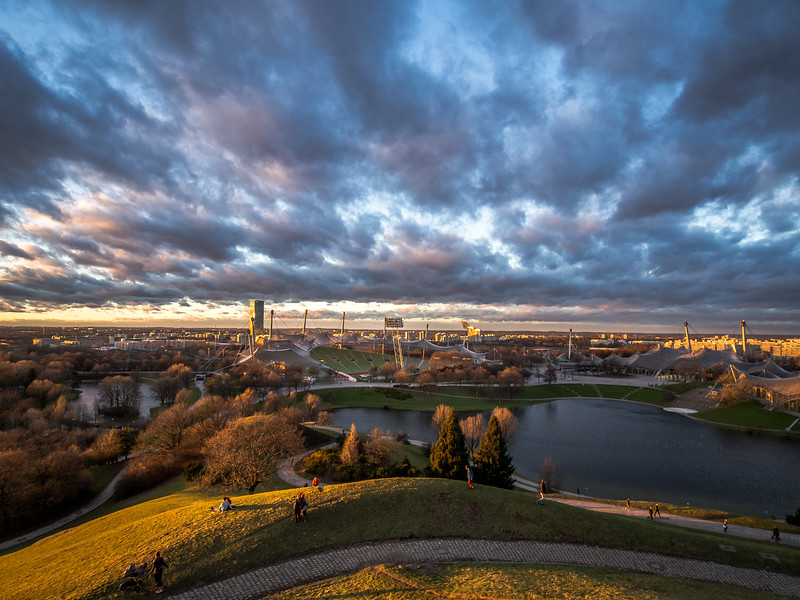 Cloud Blast above Olympiapark, Munich, Germany
