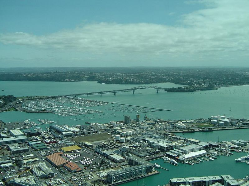 Auckland Harbour from Sky Tower