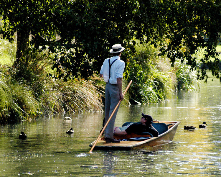 Punting in Christchurch, New Zealand